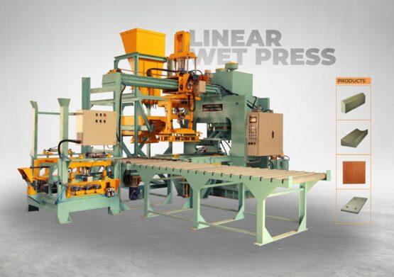 Linear wet press - Kerbstone making Machine